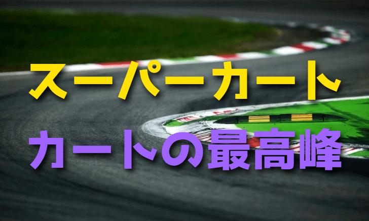 カートレースの最高峰スーパーカート【フォーミュラカート】