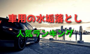 車用の水垢落とし人気ランキング・最新版