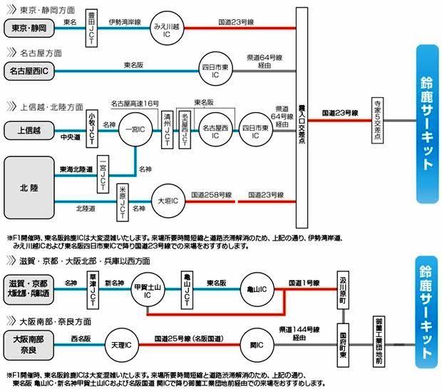 鈴鹿サーキットへのアクセス方法【車・バス・電車】